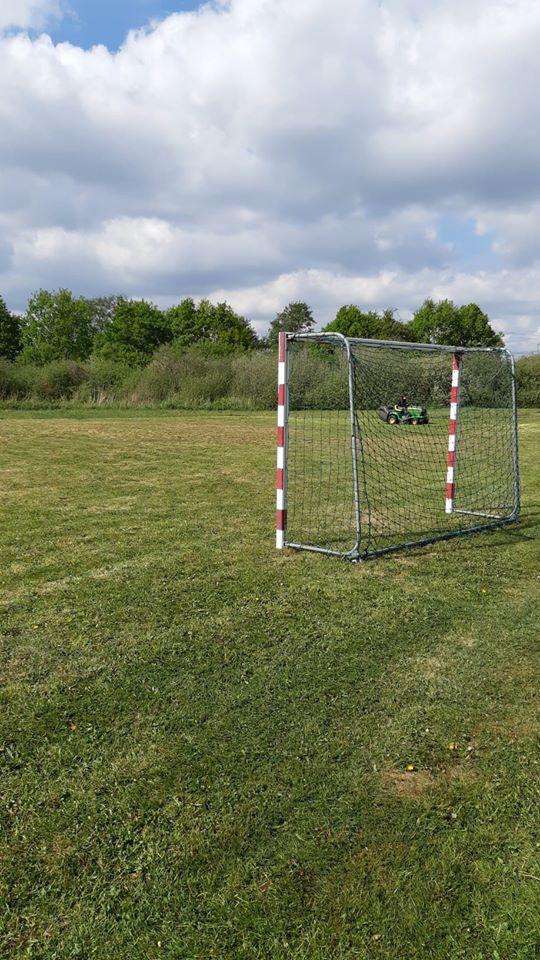 Het veld ligt klaar